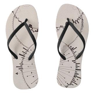Invisíveis indizíveis do flip-flop das sandálias