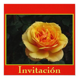 Invitación - Festa de Cumpleaños - La Rosa Convite Quadrado 13.35 X 13.35cm