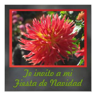 Invitación - Festa de Navidad - La Dalia Convite Quadrado 13.35 X 13.35cm