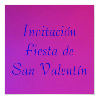 Invitación - Festa de San Valentín - Púrpura-rosa Convite Quadrado 13.35 X 13.35cm