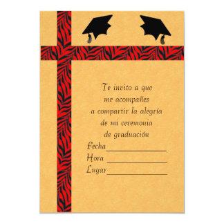 Invitacion Graduacion 1 Convite 12.7 X 17.78cm