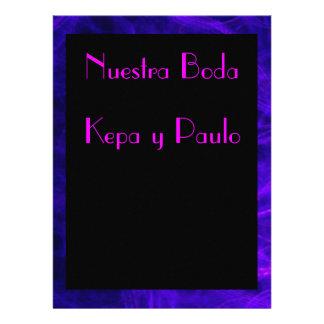 Invitación - Nuestra Boda - Negra y rosa Convites Personalizado
