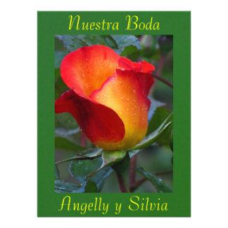 Invitación - Nuestra Boda - Roja y Verde Convite Personalizados