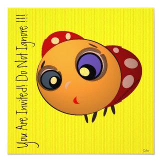 Invitation_Blue-eyed Ladybug_ZALTAR Convite Quadrado 13.35 X 13.35cm
