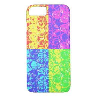 Invólucro com bolhas de ar do pop art do arco-íris capa iPhone 7