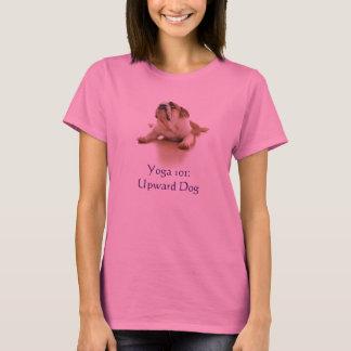 """""""Ioga 101: A camisa mulheres do cão ascendente"""