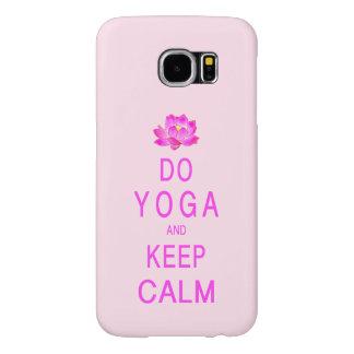 Ioga com flor de Lotus Capa Para Samsung Galaxy S6