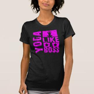 Ioga - como um t-shirt das senhoras do chefe camiseta