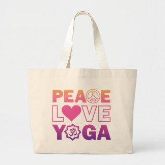 Ioga do amor da paz bolsas para compras