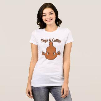 Ioga e café. .png camiseta