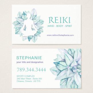 Ioga e cartões de visitas de Reiki