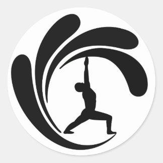 Ioga Maui do surf - etiqueta redonda clássica