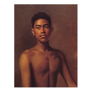"""""""Iokepa, cartão do menino havaiano de Fisher"""" -"""
