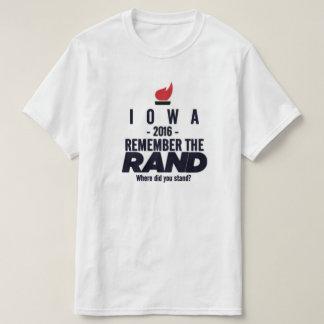 Iowa 2016 - Iowa para a margem Paul Camiseta
