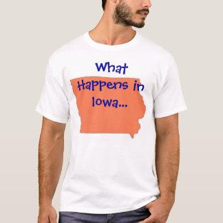 Iowa o que acontece camiseta