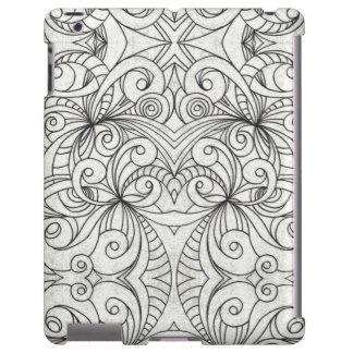 iPad que tira mal lá o abstrato floral Capa Para iPad