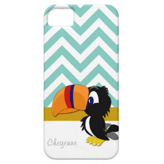 iPhone 5 de Toucan Seamist Chevron mal lá Capa Barely There Para iPhone 5