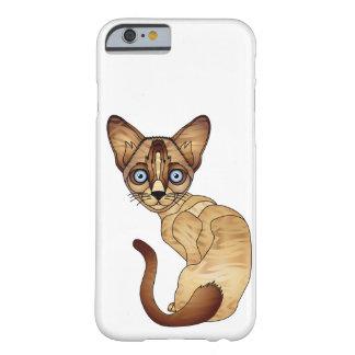 iPhone 6/6s do gato Siamese, mal lá capa de