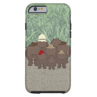 iPhone 6/6s dos hipopótamos, capa de telefone