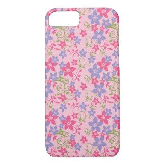 iPhone 7, caso floral sem emenda do teste padrão Capa iPhone 7