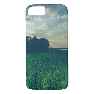 iPhone 7 de Apple da opinião do lago, mal lá capa
