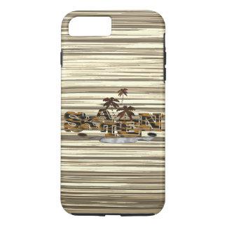IPhone 7 Plus capa com modelo de madeira+Emblema