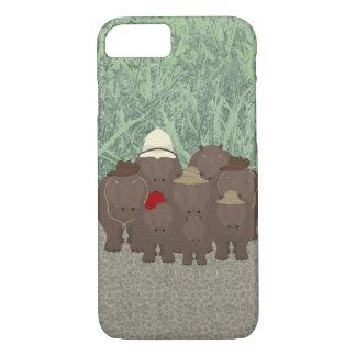 iPhone 8/7 de Apple dos hipopótamos, mal lá capa
