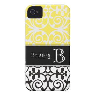iPhone amarelo branco preto 4/4s do monograma do Capinhas iPhone 4