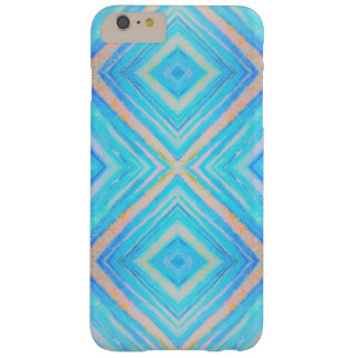 Iphone azul e alaranjado dos retângulos capa barely there para iPhone 6 plus