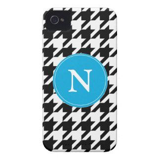 iPhone azul preto & branco 4/4s do teste padrão de Capinha iPhone 4