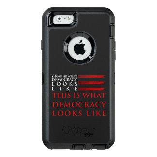 iPhone da democracia & exemplo de Samsung Otterbox