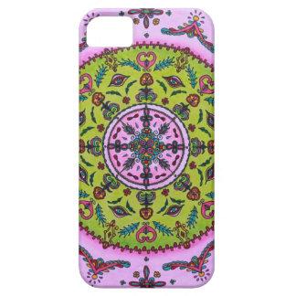 iPhone da mandala do Lilac/caixa florais verdes do Capas Para iPhone 5