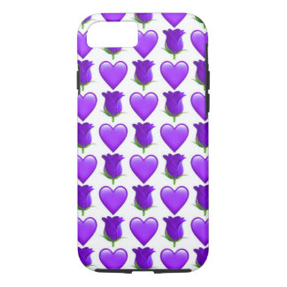 iPhone de Emoji do rosa do roxo 8/7 de capa de