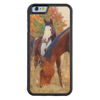 iPhone de madeira animal do cavalo Capa De Madeira De Bordo Bumper Para iPhone 6
