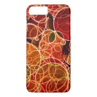 iPhone do teste padrão de Orange_Green_Red/caso do Capa iPhone 7 Plus