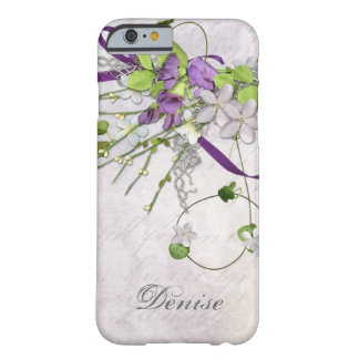 iPhone feminino 6 ervilhas doces roxas da lavanda Capa Barely There Para iPhone 6