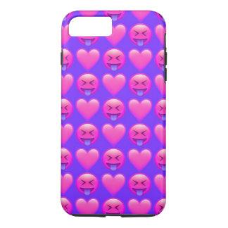 iPhone louco de Emoji do amor 8/7 de capa de