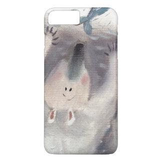 Iphone oilpainting do urso polar e dos peixes mal capa iPhone 7 plus