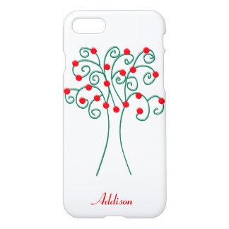 iPhone personalizado da árvore do White Christmas Capa iPhone 7