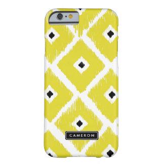 iPhone personalizado de Ikat teste padrão amarelo Capa Barely There Para iPhone 6