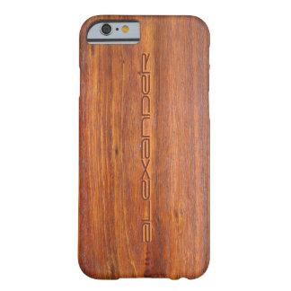 iPhone personalizado madeira 6 cobrir do caso Capa Barely There Para iPhone 6