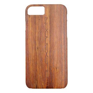 iPhone personalizado madeira 7 cobrir do caso Capa iPhone 7