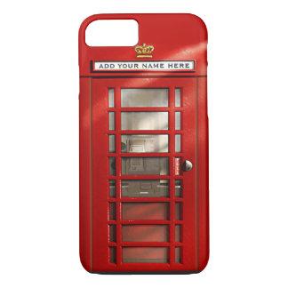 iPhone personalizado vermelho britânico 7 da caixa Capa iPhone 7
