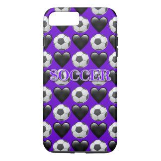 iPhone roxo de Emoji do futebol 8/7 de capa de