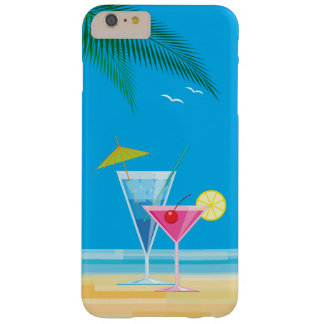 iPhone tropical 6/6s dos cocktail mais o caso Capa Barely There Para iPhone 6 Plus