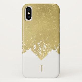 iPhone X da folha de ouro do falso, mal lá capa de