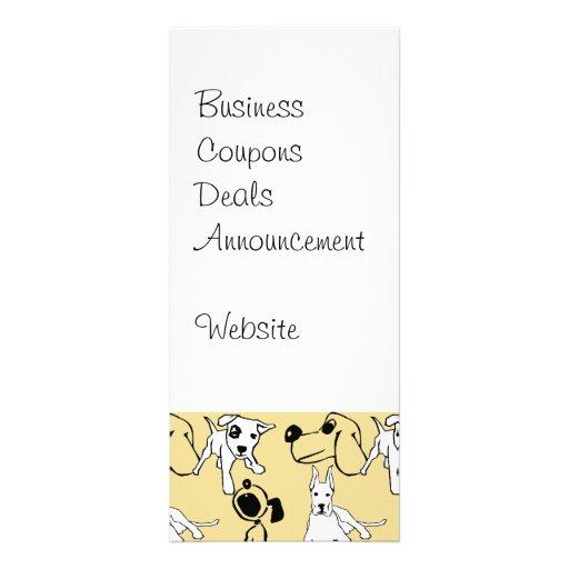 Ir aos presentes do cão do veterinário dos amantes modelo de panfleto informativo