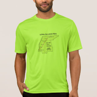 Ir em uma camisa do passeio da bicicleta