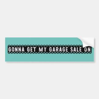 Ir obter minha venda de garagem no autocolante no adesivo para carro