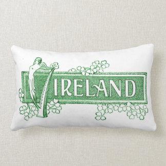 Ireland com harpa irlandesa almofada lombar
